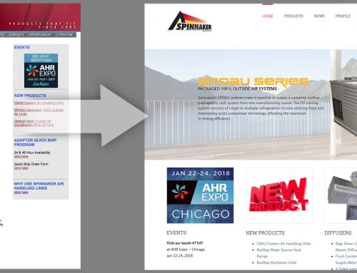 Spinnaker Website Re-design
