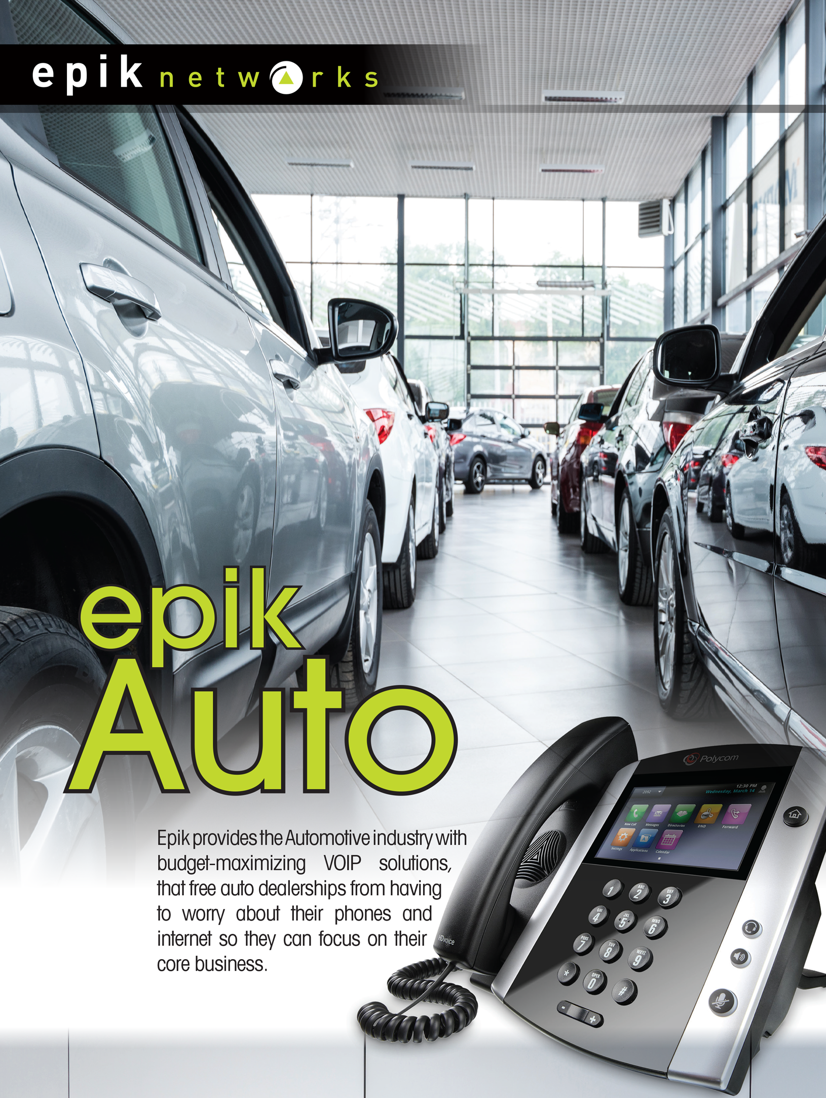 Epik Networks auto industry promotion